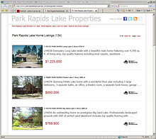 Park Rapids Lake Properties Website